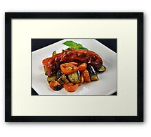 Chorizo Sausage With Roasted Vegetables  Framed Print