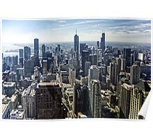 A Misty Morning in Chicago, Illinois, USA Poster