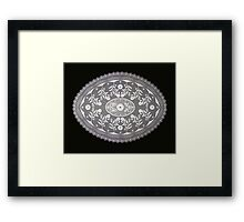 Lace Design Framed Print