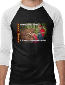 SexyMario MEME - Another Princess Men's Baseball ¾ T-Shirt
