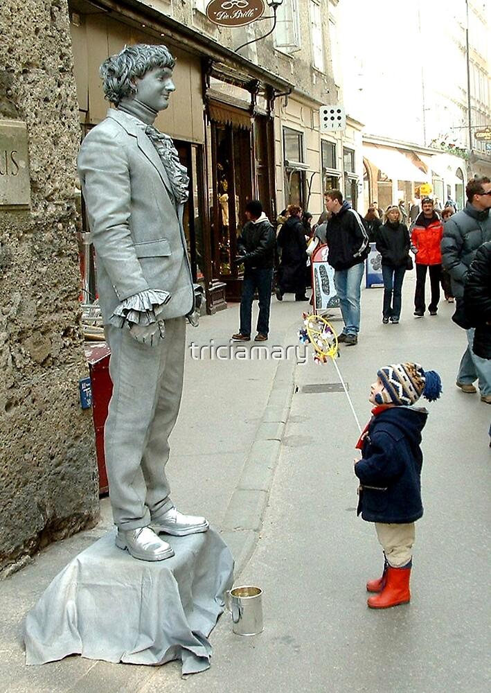 Salzburg street performer by triciamary