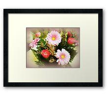 Pink Bouquet - a Gift Framed Print