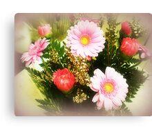 Pink Bouquet - a Gift Canvas Print