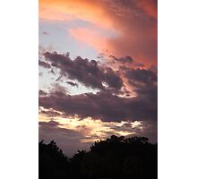 Sunset as seen from my lanai. Photographic Print