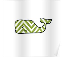 Chevron Vineyard Vines Whale Poster