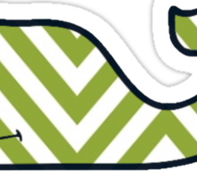 Chevron Vineyard Vines Whale Sticker