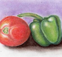 tomato n capsicum.. by sneha