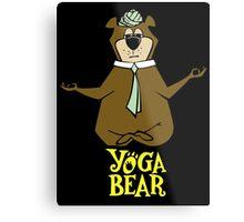 Yogi Bear Yoga Metal Print