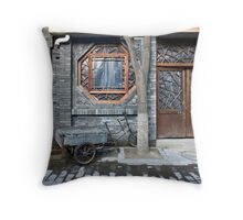 Picturesque chinese facade Throw Pillow