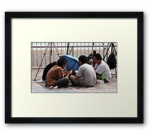Patient Photographers Framed Print