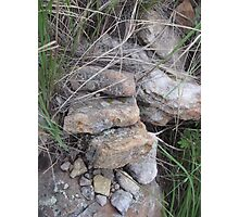 Stone and Rock Formation in the Grass Photographic Print