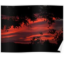 Red -  the sky is red.........! Poster