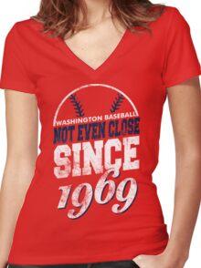 Washington Baseball Women's Fitted V-Neck T-Shirt