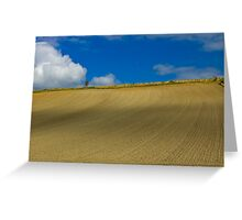 Normandy Field and Clouds Greeting Card