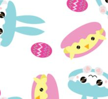 Easter Bunny and Chick Macarons  Sticker