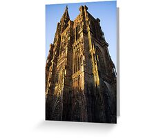 Cathedral of Strasbourg Greeting Card
