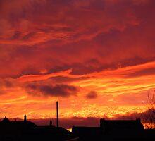 sunset over Rotherham by karen Bradshaw