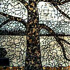 Tree Mosaic On Store Building's Outside Wall, Woodbridge NJ USA by Jane Neill-Hancock