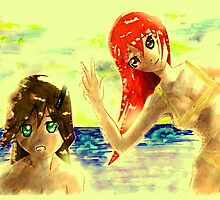 anime girlds by wpitipong