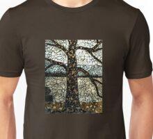 Tree Mosaic On Store Building's Outside Wall, Woodbridge NJ USA Unisex T-Shirt