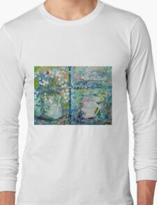 Vase and Demitasse Impressionist Painting Long Sleeve T-Shirt