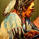 Pondering The Way- Detail Study by Susan Bergstrom