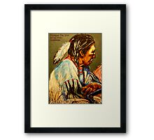 Pondering The Way- Detail Study Framed Print