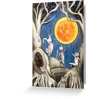 they dance under the light of the moon paper cut Greeting Card