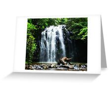 Tropical North Queensland Waterfall Greeting Card