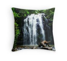 Tropical North Queensland Waterfall Throw Pillow