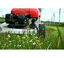 Lawnmower Vs. Grass! Photographic Print