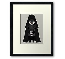 Minion Darth Vader Despicable Me Framed Print
