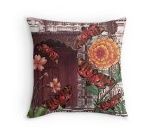 flower and door Throw Pillow
