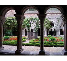 Fontfroide Abbey cloisters Photographic Print