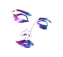 Lana Del Rey Face Original Artwork (Galaxy Pattern Version) by anecdote
