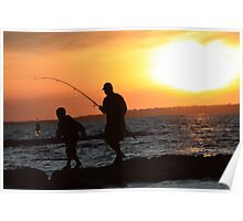 Father Son Catch Poster