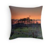 Sunset (II) at Big Cypress National Preserve, Florida Throw Pillow