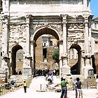 Arch of Septimius Severus, Roman Forum, Rome, Italy by hojphotography