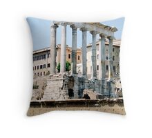 The Temple of Saturn, Rome, Italy Throw Pillow