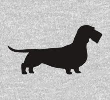 Wire Haired Dachshund Silhouette Kids Clothes