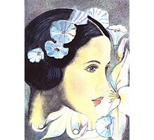 "BEAUTIFUL ""ART NOUVEAU"" WOMAN WITH LILIES  Photographic Print"