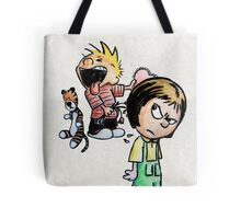 Calvin and Hobbes and Susie Fan Art Tote Bag