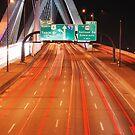 Zakim Bridge Traffic by AcePhotography