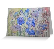 Floral Watercolour Collage by Heather Holland Greeting Card