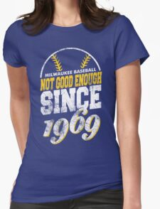 Milwaukee Baseball Retro Womens Fitted T-Shirt