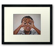 Latham's goggles Framed Print