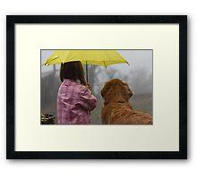 Sharing the Umbrella 2 Framed Print