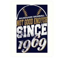 Milwaukee Baseball Art Print