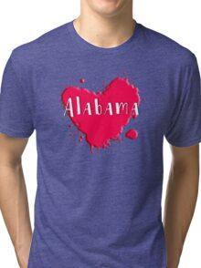 Alabama Splash Heart Alabama Tri-blend T-Shirt