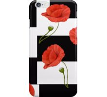Checkerboard Poppies   iPhone Case/Skin